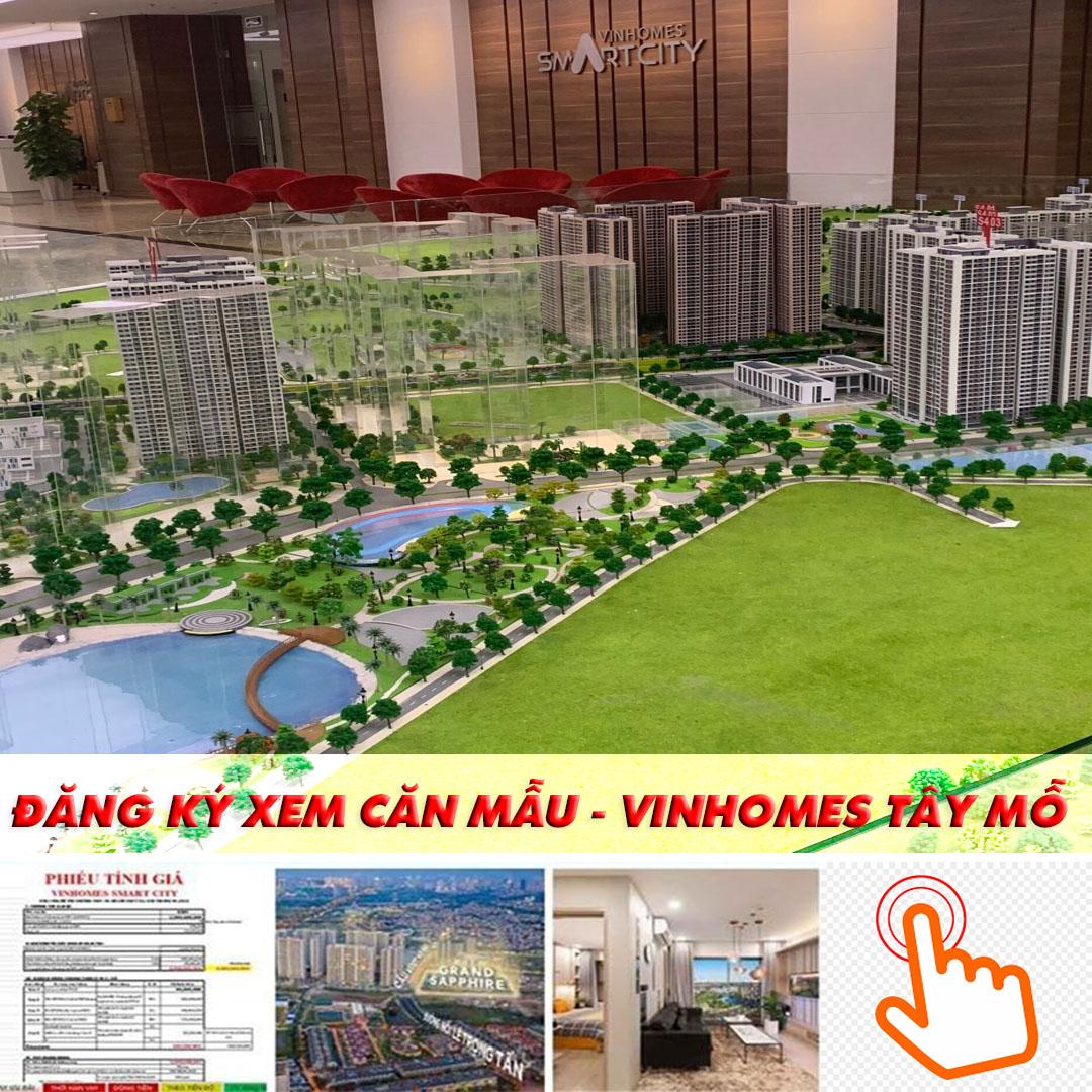 Vinhomes smart city hiện cho đăng ky tham quan căn hộ mẫu